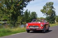 Maserati 3500 GT Spyder rouge 3/4 avant gauche travelling 2