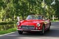 Maserati 3500 GT Spyder rouge 3/4 avant gauche travelling 3