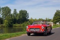 Maserati 3500 GT Spyder rouge 3/4 avant gauche travelling
