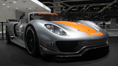 Porsche 918 RSR gris/orange 3/4 avant droit