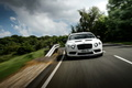 Bentley Continental GT3-R - Blanche - face avant dynamique