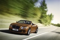 Bentley Continental GTC Speed 2015 - orange - 3/4 avant gauche dynamique