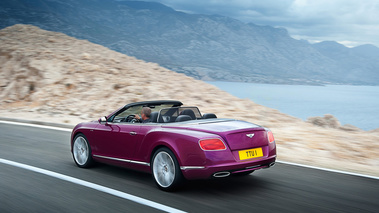 Bentley Continental GTC Speed violet 3/4 arrière gauche travelling 2