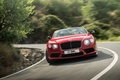 Bentley Continental GTC V8 S rouge face avant travelling penché