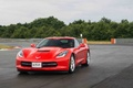 Chevrolet Corvette C7 Stingray rouge 3/4 avant gauche travelling 2