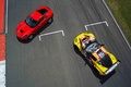 Chevrolet Corvette C7 Stingray rouge & C6R jaune 2