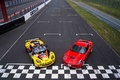 Chevrolet Corvette C7 Stingray rouge & C6R jaune 3