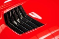 Chevrolet Corvette C7 Stingray rouge louvres de capot