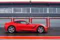 Chevrolet Corvette C7 Stingray rouge profil