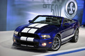 Shelby GT500 Convertible - bleue - 3/4 avant gauche, Salon de Chicago
